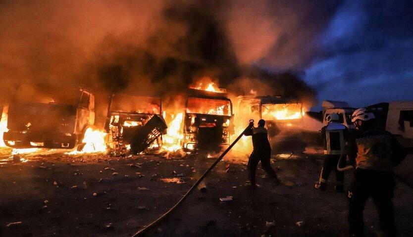Удар по городам в сирийской провинции Идлиб