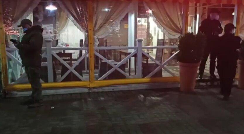Захват кафе в Киеве