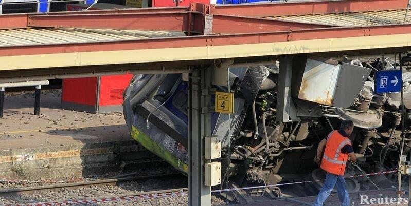 авария поезда во Франции