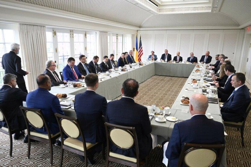 Встреча Владимира Зеленского с бизнесом в США