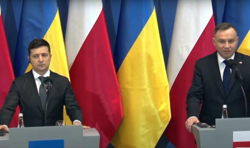 Зеленский поздравил Дуду с переизбранием на второй срок