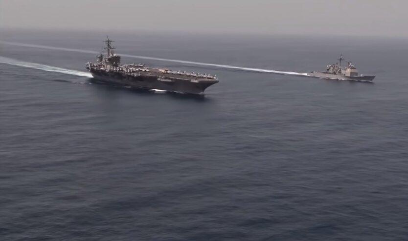 Корабли ВМС США, Иран, атака