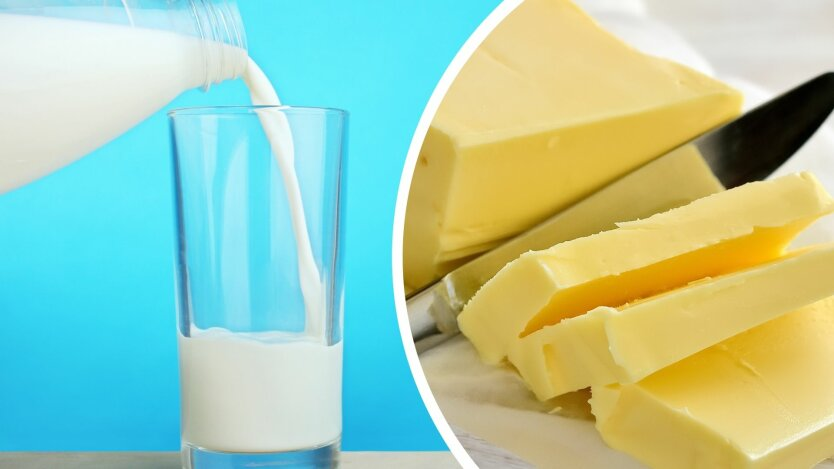 Цены на молоко и сливочное масло