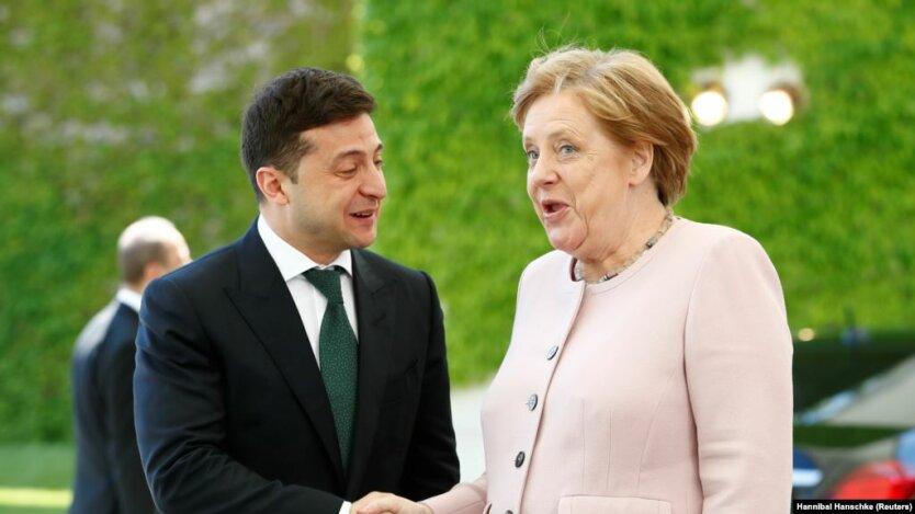 Зеленский+Меркель