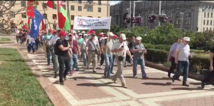 Митинг в пользу Лукашенко в Минске