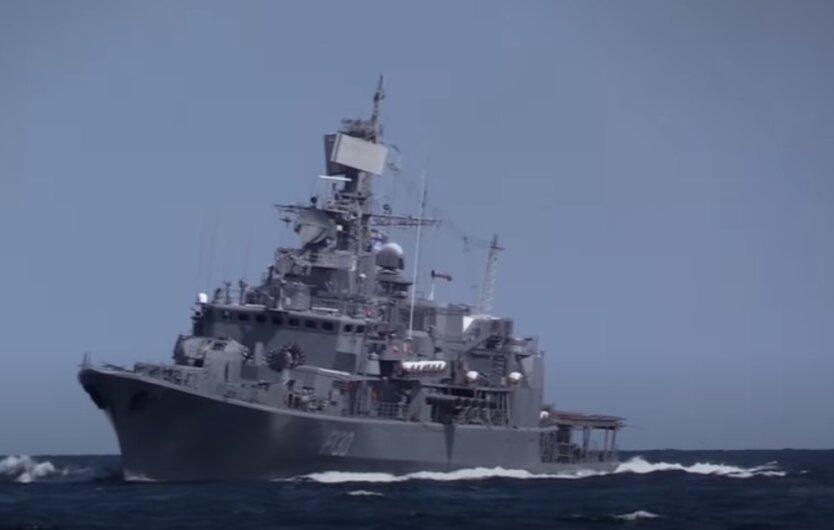 Флагман Военно-морских сил ВСУ фрегат «Гетьман Сагайдачный»