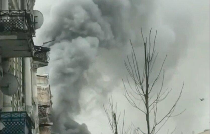 В Киеве произошел масштабный пожар: видео