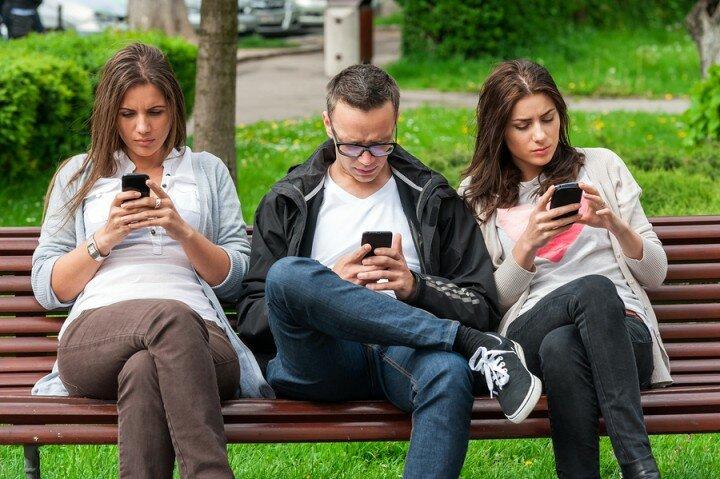 смартфон молодежь-