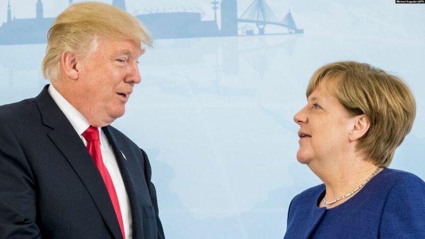 Дональд Трамп_Ангела Меркель