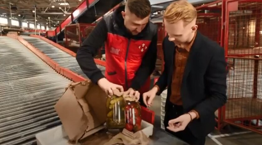Продукты питания в посылках Новой почты