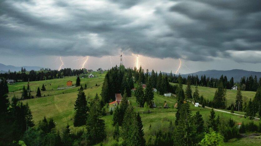 Гроза в украине, погода в украине, прогноз погоды