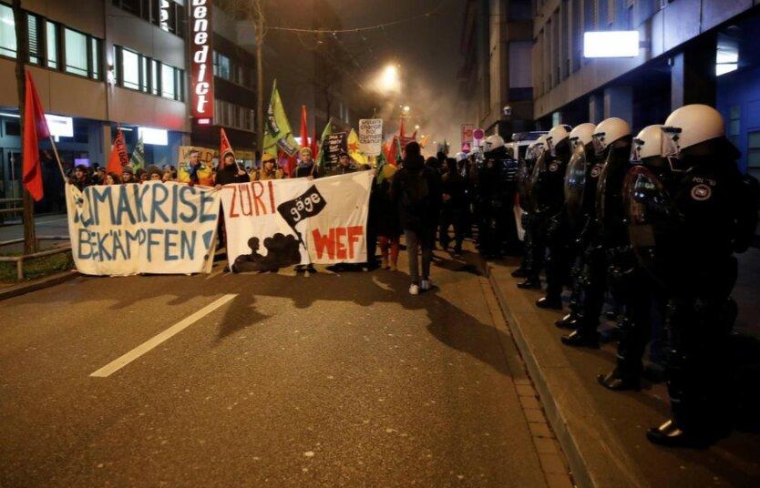 протесты в цюрихе