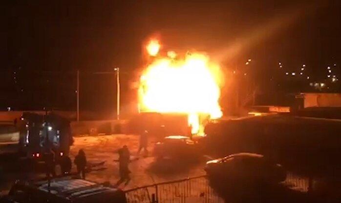 Пожар Троещина
