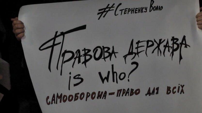 Акция в поддержку Сергея Стерненко, Антон Геращенко, Сергей Стерненко