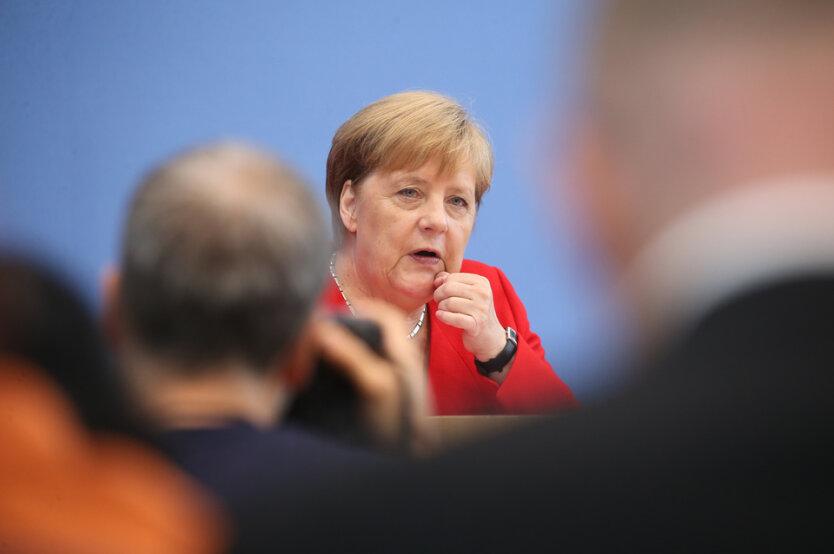 German Chancellor Angela Merkel press conference in Berlin