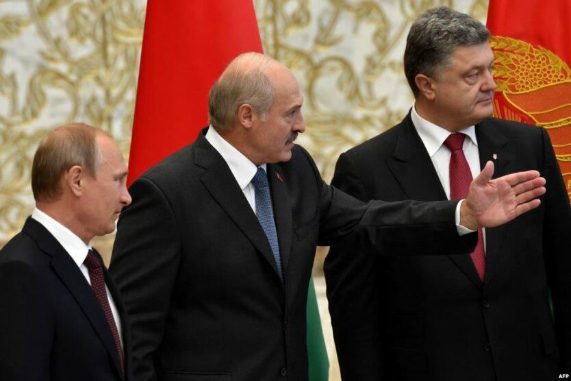 Александр Лукашенко Петр Порошенко Владимир Путин