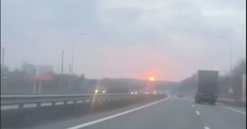 Пожар в Полтавской области, взрыв газопровода