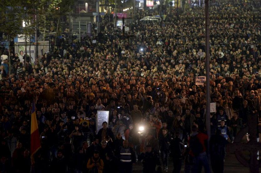 Румыния_протесты в Бухаресте