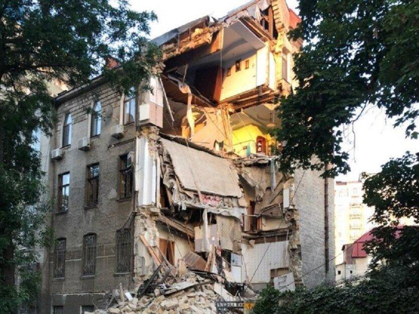 Обвал 4-х этажного дома в Одессе