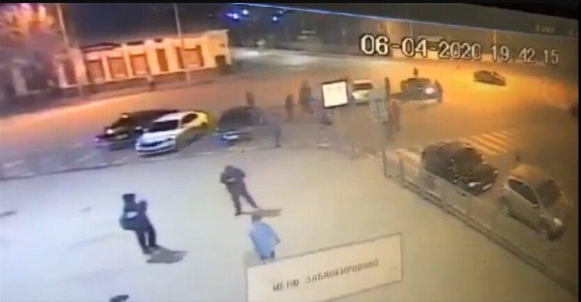 Избиение полицейских в Харькове