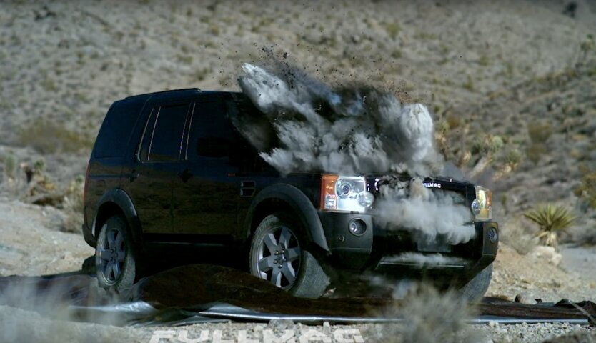 Tank Round vs Land Rover