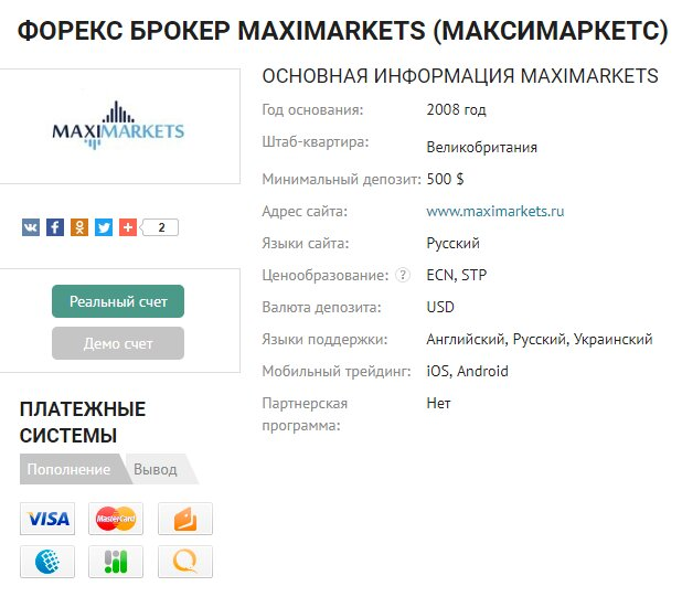MaxiMarkets — отзывы и обзор