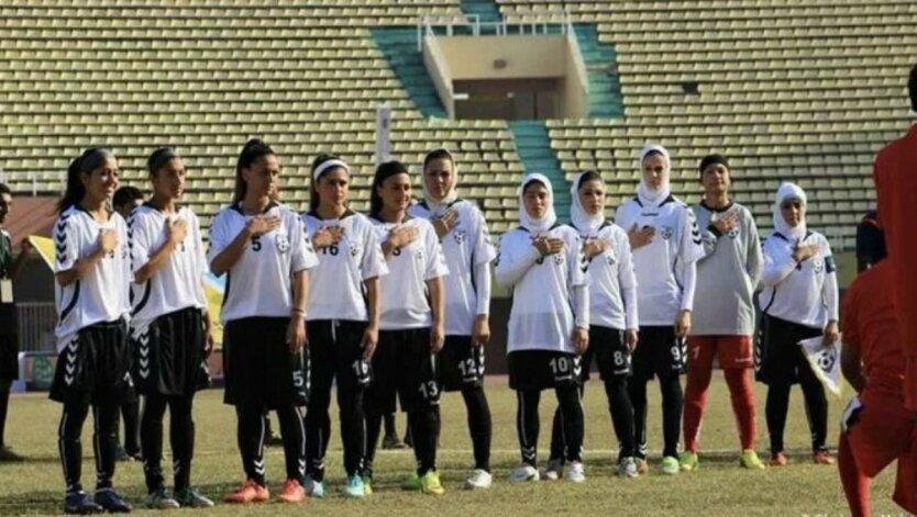 Футболистки из Афганистана