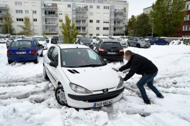 Франция_снегопад