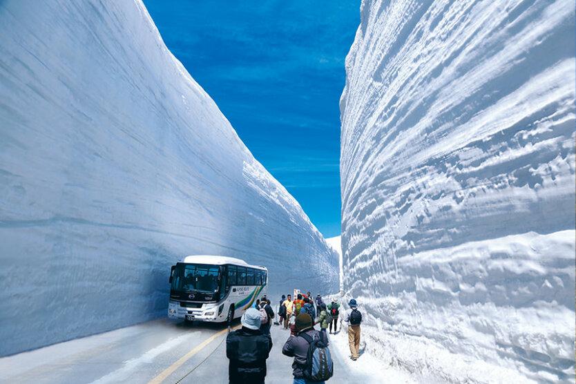 Дороги в Японии зимой