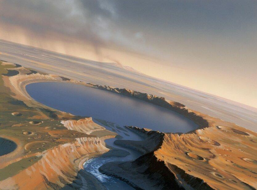 На Марсе обнаружены соленые озёра шириной от 5 до 30 километров