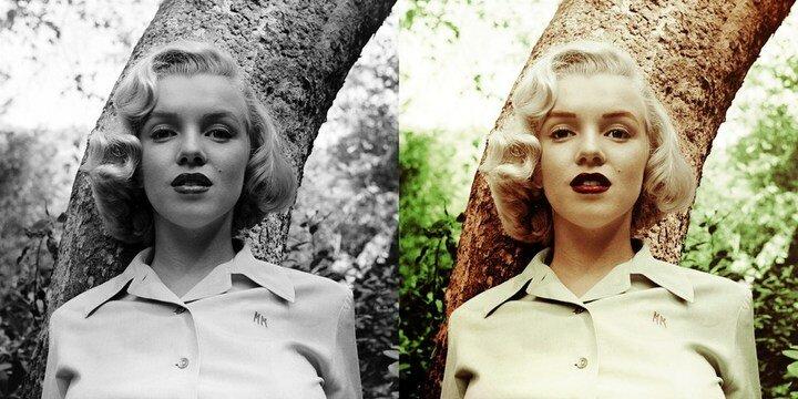 черно-белые фото в цветные
