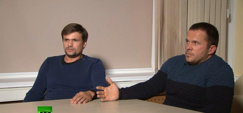 Александр Петров и Руслан Боширов, подозреваемые, взрыывы в Чехии