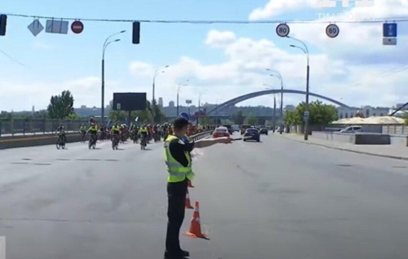 Велопробег в Киеве