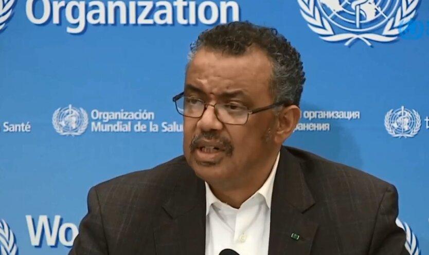 Гендиректор Всемирной организации здравоохранения Тедрос Гебрейесус