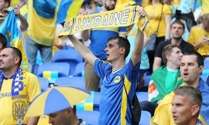 флаг украина футбол