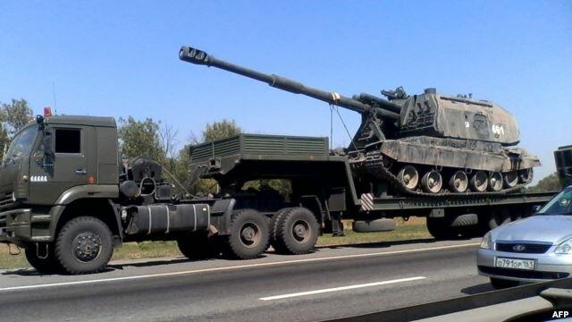 российская техника едет в Украину