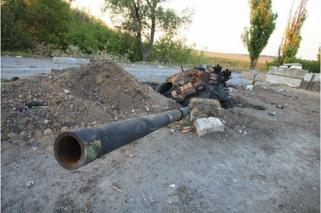 украинский блокпост возле еленовки