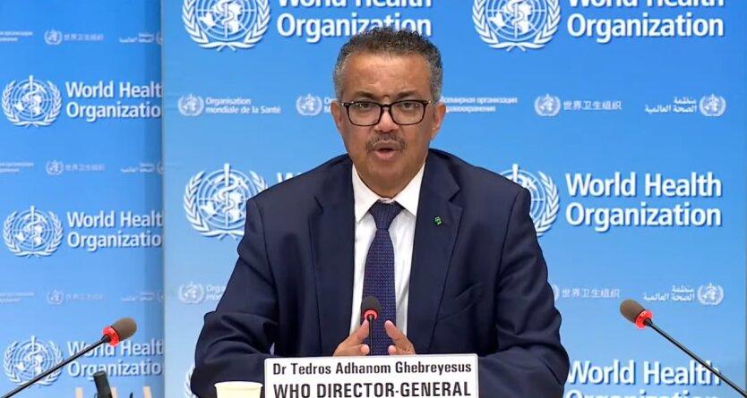 Глава Всемирной организации здравоохранения Тедрос Адханом Гебреесус