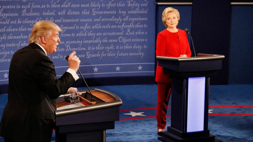 дебаты Трамп Клинтон