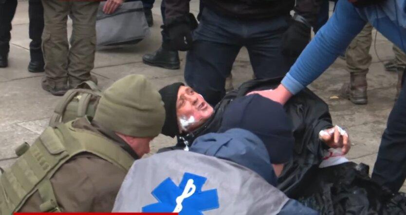 самоподжог, митинг, протестующие