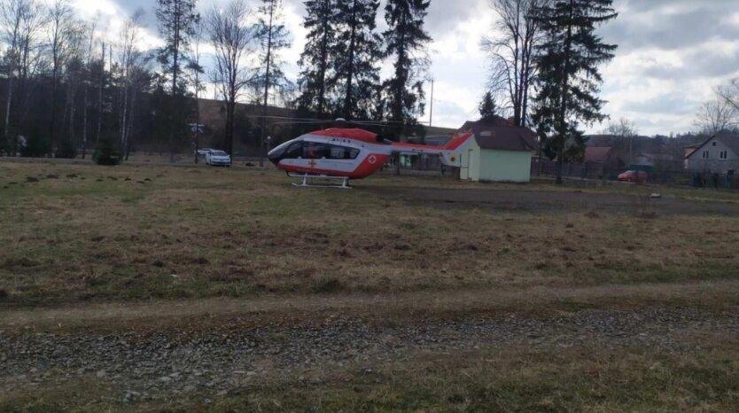 Гражданская аэромедицинская эвакуация, вертолет, Украина