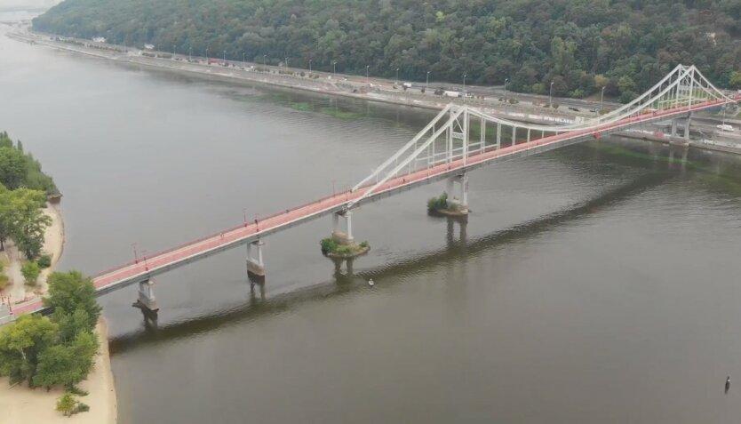 Въезд на Труханов остров,Виталий Кличко,Мост на Труханов остров,Элекромобили на Трухановом острове