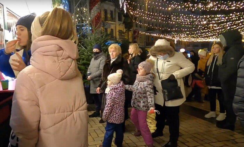Киевляне массово «празднуют» первый день локдауна