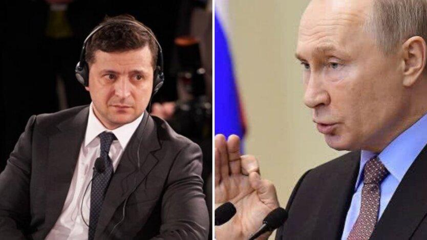 Президент Украины Владимир Зеленский и Президент России Владимир Путин