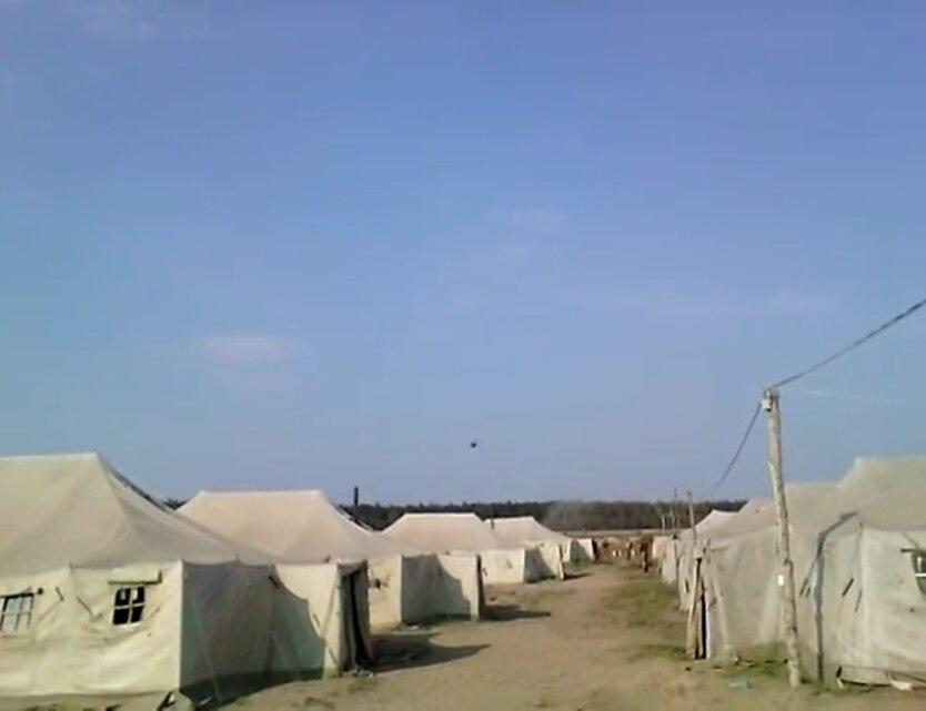 палаточный городок ВСУ, ураган