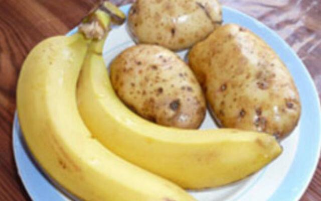 картошка банан
