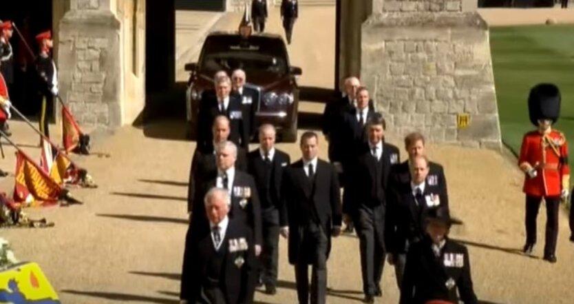 Траурная церемония. Принц Уильям и принц Гарри