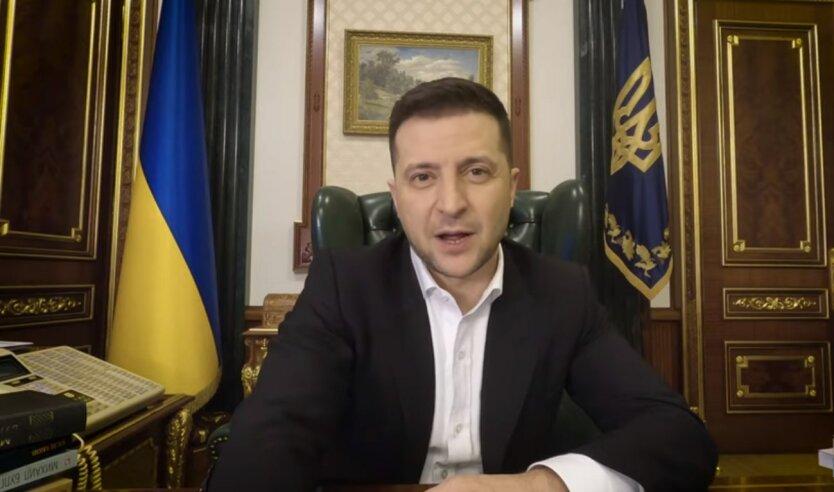 Владимир Зеленский, закрытие каналов Медведчука, видеообращение