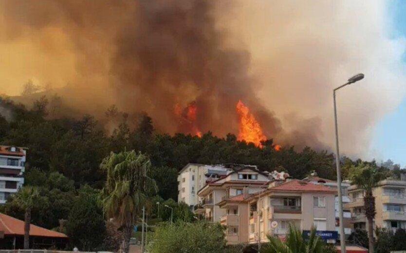 В Турции бушуют лесные пожары, в Бодруме эвакуируют людей: видео