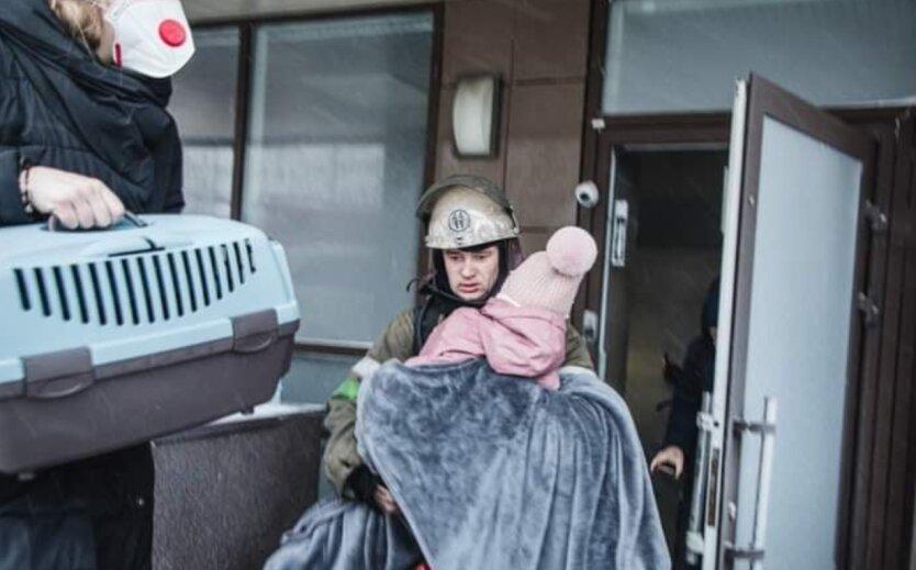 Эвакуация, пожар, спасатели